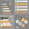 Векторный клипарт: мега набор инфографики шаблонов для бизнеса