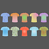 Векторный клипарт: набор футболок с различными уровнями подготовки к