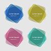 Векторный клипарт: Набор красочных геометрических фигур для фона