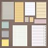Векторный клипарт: набор различных видов листов. листов в линии.