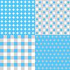 Векторный клипарт: набор из четырех фонов в голубых тонах