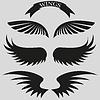 Векторный клипарт: набор красивых, стильных крыльями. Акции