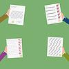 Векторный клипарт: набор значок бизнес контракта