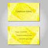 Векторный клипарт: желтый Современный Абстрактный бизнес - набор карт