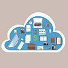 Bürofelder Online-Cloud-
