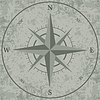 Windrose. retro-Kompass