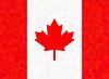 Kanada-Flagge auf Dreieck Hintergrund. Entwurf.