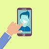 Webinar Konzept in flachen Stil. Online-Bildung.