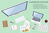 Arbeitsplatz. stilvollen Bürogestaltung. moderne Konzept