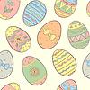 Nahtloses Muster mit Ostereiern