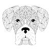 Векторный клипарт: голова собаки