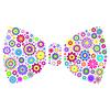 Векторный клипарт: цветочный лук галстук