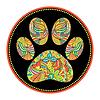 Векторный клипарт: лапой печать абстрактный животных