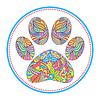Векторный клипарт: животное лапа печати