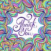 Векторный клипарт: красочные спасибо карты