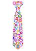 Векторный клипарт: цветочный галстук