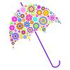 Векторный клипарт: цветочный зонтик