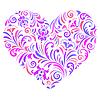 Векторный клипарт: сердце на красном фоне