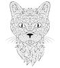 Векторный клипарт: голова кошки