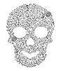 Векторный клипарт: цветочный череп