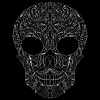 Векторный клипарт: абстрактный череп