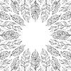 Векторный клипарт: рамка с абстрактными перьями