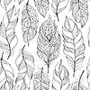 Векторный клипарт: шаблон с абстрактными перьями