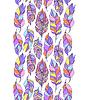 Векторный клипарт: фон с красочными абстрактные перьев