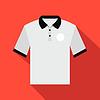 Weiße Männer Polo-Shirt flach icon