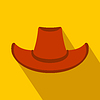 Cowboy Hut flach Symbol