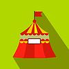 Zirkuszelt flach Symbol
