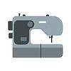 Moderne Nähmaschine Flach Symbol