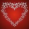 Silberne Sterne in Form von Herzen