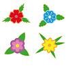 Blumen-Sticker