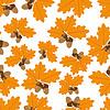 Eicheln mit Eiche Blätter im Herbst Nahtlose Beschaffenheit