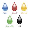 Vektor Cliparts: Droplets eingestellt