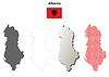 Albanien, Übersicht Karte Satz