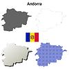 Andorra Übersicht Karte Satz