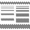 Графические элементы дизайна - зигзаг линии делителя набор | Векторный клипарт