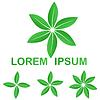 Grüne Ökologie verlässt Logo-Design-Set