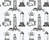 Leuchtturm Seamless Pattern