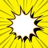 Comic-Cartoon-Hintergrund mit Explosions