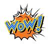 Comic-Sound-Effekt - Wow. Pop-Art-Stil | Stock Vektrografik