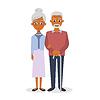 glücklich lächelnde ältere Paare
