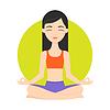 Mädchen üben Yoga-Übungen. Healthy life