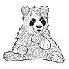 monochrome zentagle Pandabär