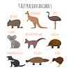 Set der australischen Tiere Ikonen
