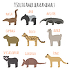 set of South Symbole amerikanischen Tiere