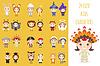 Set aus verschiedenen bunten Cartoon-Kinder Zeichen i