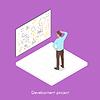 Vektor Cliparts: Die isometrische 3D-Projektentwicklung